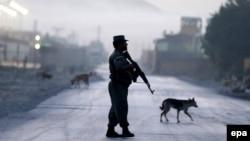 Policija Avganistana ispred napadnutog hotela u Kabulu