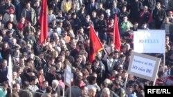 Protesta në Prishtinë, 2 dhjetor 2008.