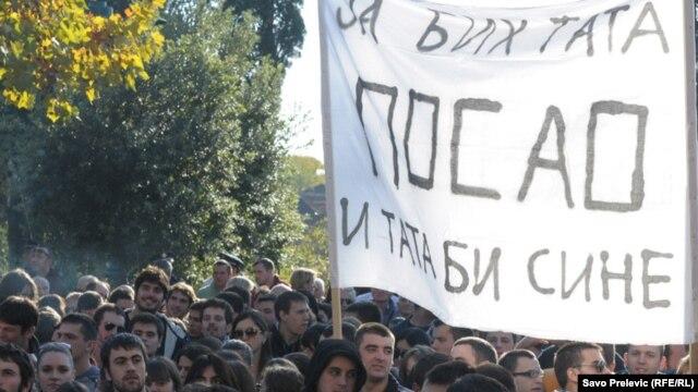 Transparent sa poslednjih studentskih protesta u Podgorici