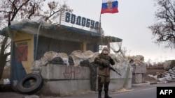 Блокпост боевиков группировки «ДНР» возле Харцызка. Ноябрь 2014 года. Иллюстративное фото