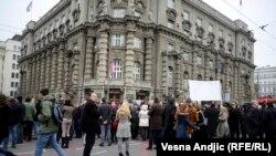 Jedan od mnogobrojnih protesta u Beogradu, ilustrativna fotografija