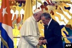 Папа Франциск и Рауль Кастро. 20 сентября