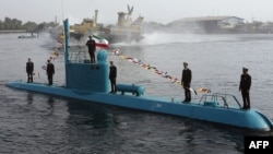زیردریایی قدیر که نیروی دریایی در سال ۲۰۱۲ در بندرعباس رونمایی کرد