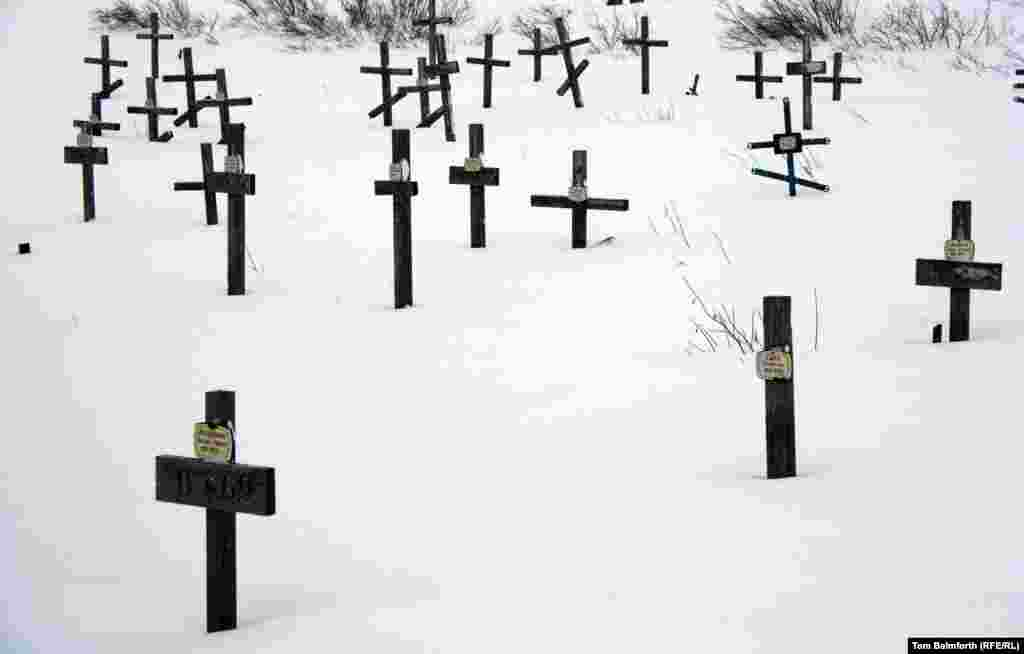 A cemetery of Gulag prisoners as it appears today.
