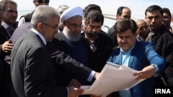 Iran - President Hassan Rouhani visiting Khuzestan Province to manage flood crisis. March 29, 2019