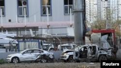 Место взрыва в Диярбакыре, 31 марта 2016 года.