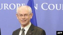 Герман ван Ромпей, президент Евросоюза. Брюссель, 19 февраля 2013 года.