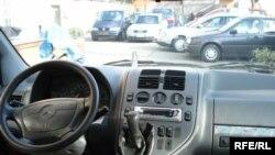 Вид из окна персонального автомобиля. Тараз, ноябрь 2008 года.