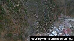 Romania landslide in Azuga April 10, 2020