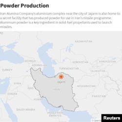 Map:Jajarm in North-Eastern Iran