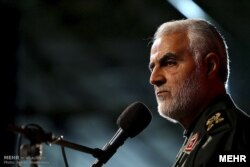 Gjenerali i vrarë iranian, Qasem Soleimani.