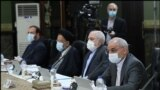 Ministers sitting at the cabinet meeting with masks, while President Hassan Rouhani was the only one without a mask. March 29, 2020