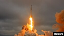 Запуск ракеты Falcon 9.