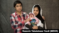 File photo - Underage parents in Iran.