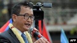 Лидер оппозиции Камбоджи Сам Раинси.