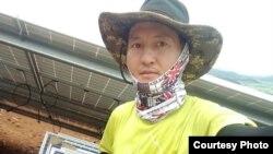 Работающий в Южной Корее казахстанец Оразхан Нурмахан.
