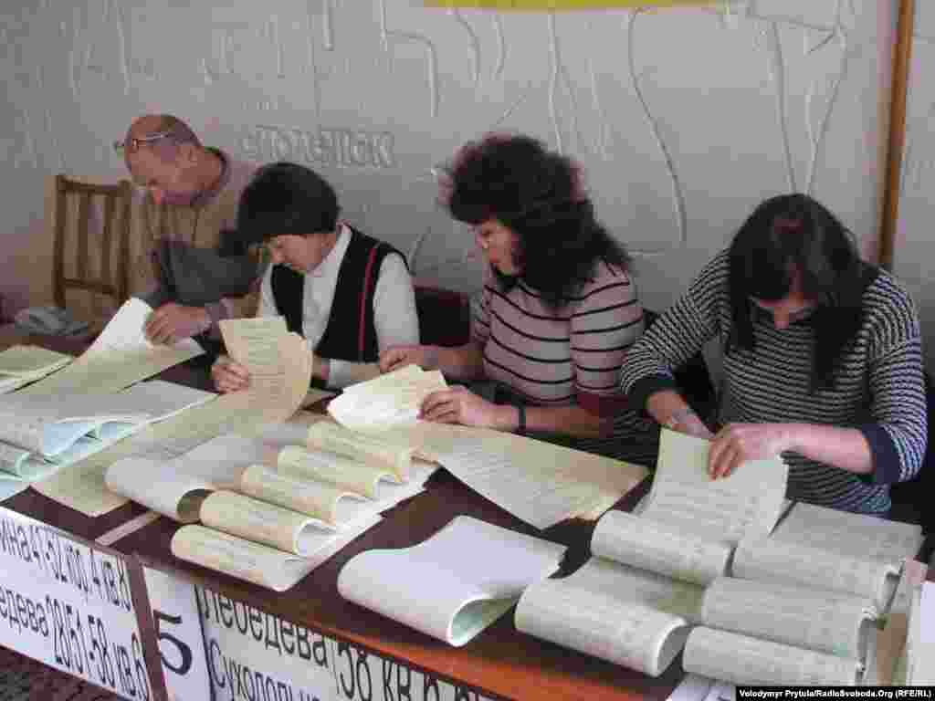 Ballots are counted in in Simferopol, Crimea.