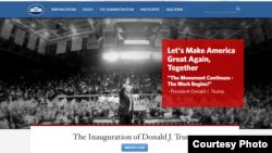 Обновленный сайт Белого дома после инаугурации Дональда Трампа. 20 января 2017 года.