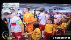Turkmenistan -- Euro 2012 soccer match on live broadcasting on Turkmenistan Sports Channel