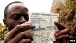 نرخ تورم در اقتصاد درهم فروپاشیده زیمبامبوه هماکنون بنا بر آمار رسمی به ۲۳۱ میلیون درصد رسیده است. (عکس: epa)