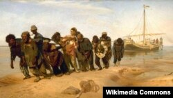 """""""Бурлаки на Волге"""", 1873"""