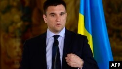 Міністр закордонних справ України Павло Клімкін під час візиту до Праги. 19 травня 2015 року
