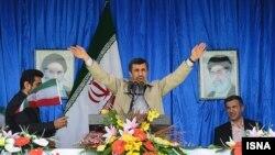سخنرانی محمود احمدینژاد، رئیس جمهور ایران، در استان سمنان.
