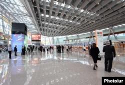 Armenia - The newly built flight terminal of Zvartnots international airport.