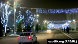 Uzbekistan - night in Tashkent before New Year