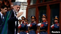 Hamid Karzai arriving for the inauguration of his successor, Ashraf Ghani, in Kabul on September 29. Karzai led the country for nearly 13 years.