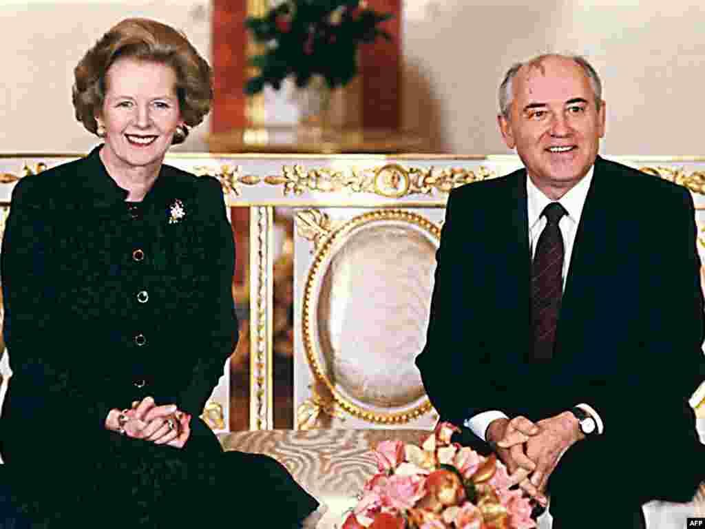 Михаил Горбачев с премьер-министром Великобритании Маргарет Тэтчер, Москва, 30 марта 1987