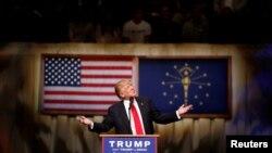 Miliarderi amerikan, Donald Trump, kandidati kryesor i republikanëve për zgjedhjet presidenciale të këtij viti në SHBA, Maj 2016