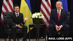 Volodimir Zelenski și Donald Trump la New York, 25 septembrie 2019