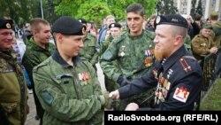 Украина. Моторола на военном параде сепаратистов в Донецке, 09.05.2015