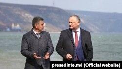 Igor Dodon și Vadim Krasnoselski, la Holercani, 30 martie 2017