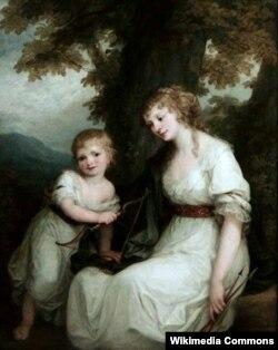 Юлиана фон Крюденер с сыном Павлом. 1786. Художник Ангелика Кауфман