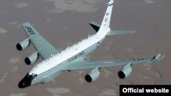 Ілюстрацыйнае фота. Амэрыканскі самалёт-выведнік RC-135