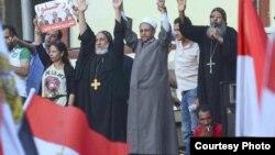 المنصة الرئيسية في ميدان التحرير بالقاهرة 29 حزيران
