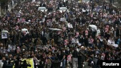 File photo of a Hazara protest in Kabul.