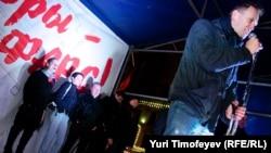 Алексей Навальный на митинге, после которого был задержан полицией
