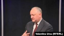 Președintele Igor Dodon la Radio Europa Liberă