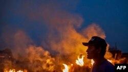 Лесной пожар на севере Бразилии, штат Мату-Грошу. Август 2019 года