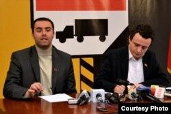 Albin Kurti e Glauk Konjufca