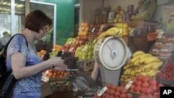 În piață la Moscova