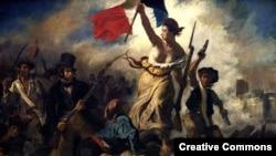 «آزادی هدايتگر مردم» اثری از اوژن دولاکروا، يکی از معروفترین آثار مربوط به انقلاب فرانسه