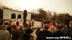 Митинг у памятника Шевченко в Симферополе