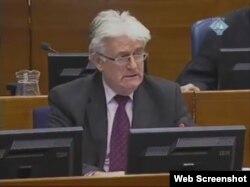 Radovan Karadžić pred sudom u Hagu, 8. veljače 2012.