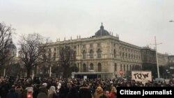 تجمع ایرانیان مقیم اتریش در حمایت از اعتراضها در ایران