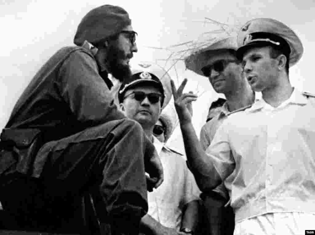С Юрием Гагариным, Гавана, 23 июля 1961 года.