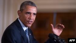 """Президент США Барак Обама выступает на мероприятии в Белом доме, посвященном развитию источников """"чистой"""" энергии"""